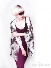 Rorschach Silk Shrug