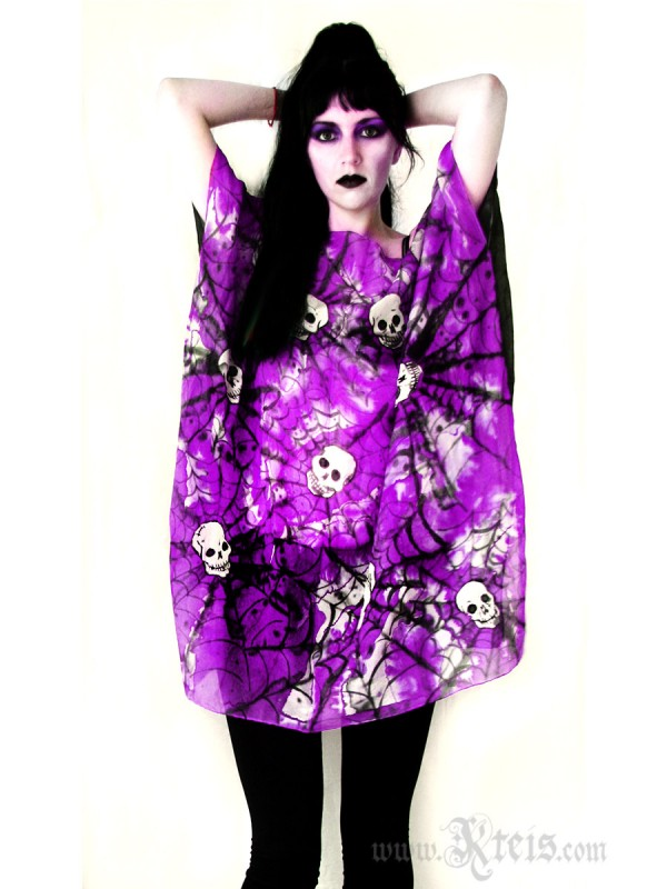 Skull Dress - Oversized Silk Tunic