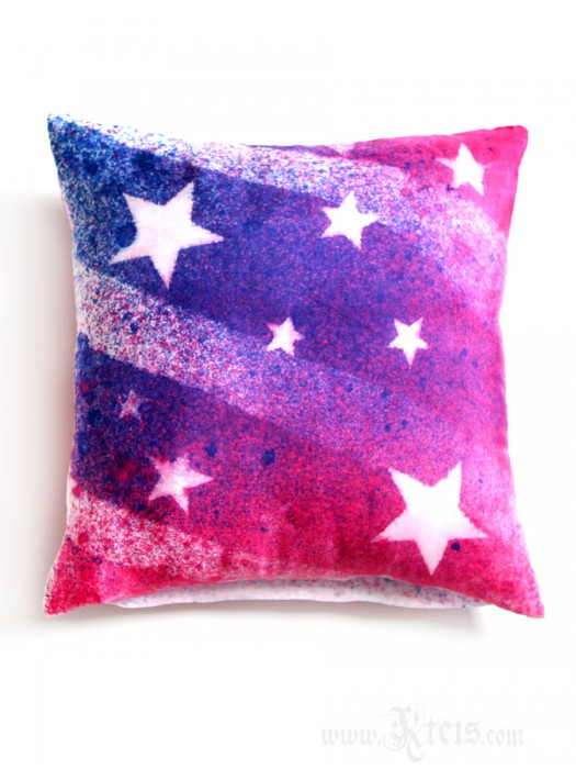 American Flag Silk Decorative Pillow