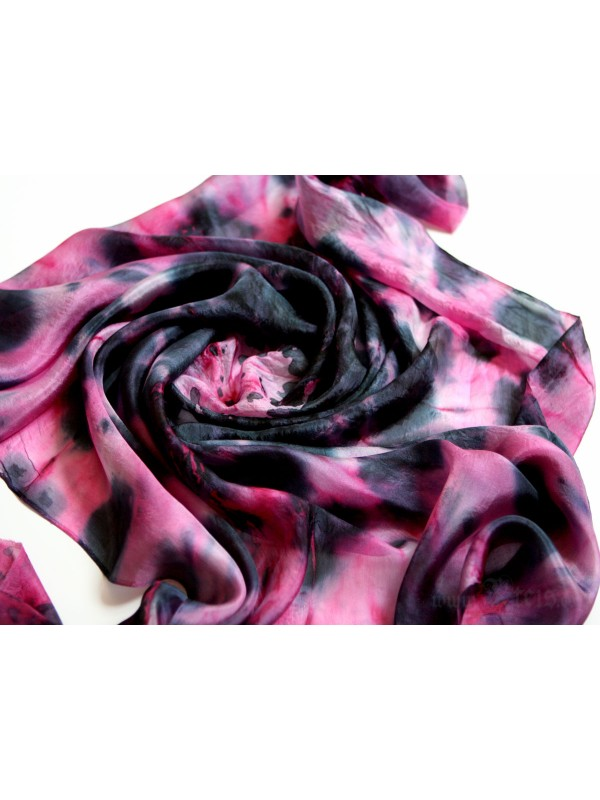 Pink Explosion Silk Scarf