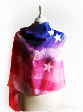 American Flag Silk Scarf