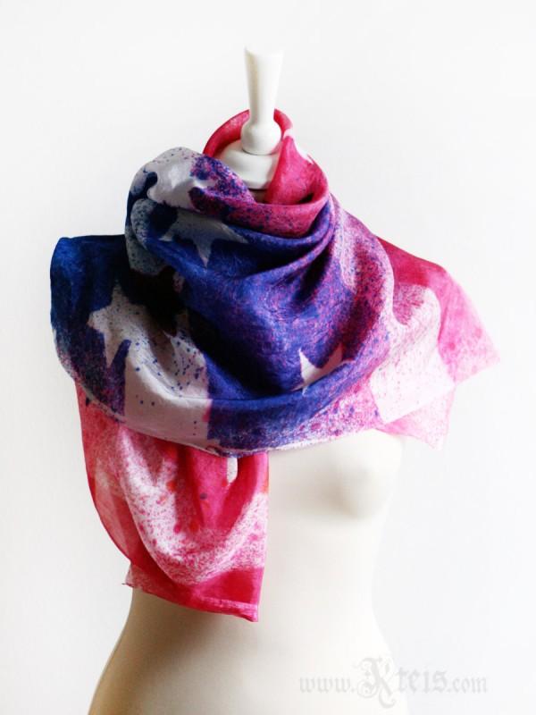 American Flag Silk Scarf