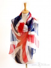 UK Flag Scarf - Chiffon Silk Scarf