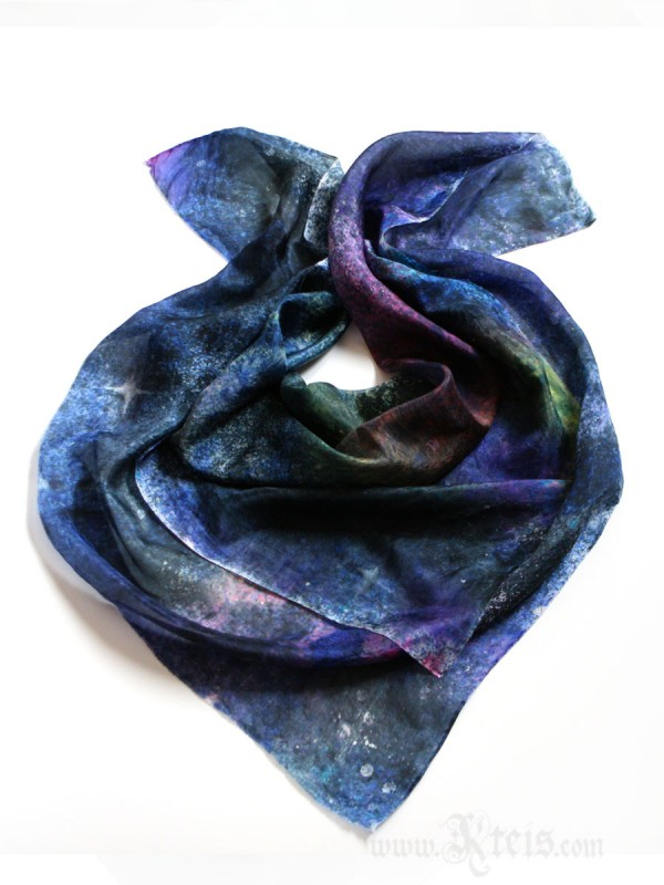 Galaxy Silk Scarf - Starry Night Silk Scarf
