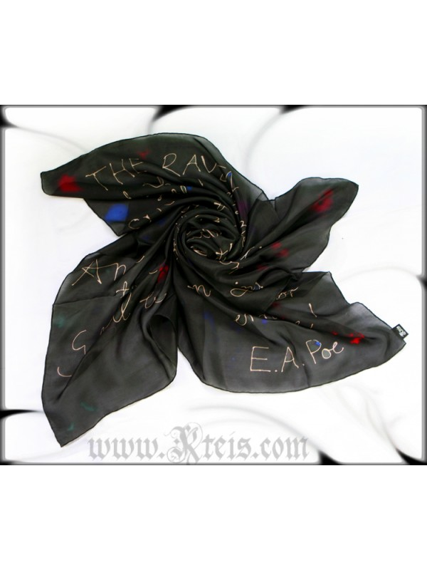 The Raven Silk Scarf