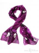 Silk Skull Shawl