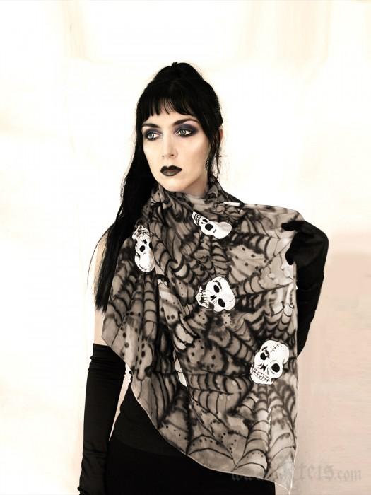 Silk Skull Scarf