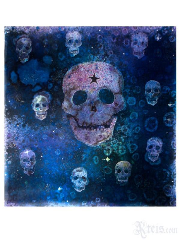 Skull Galaxy Silk Scarf