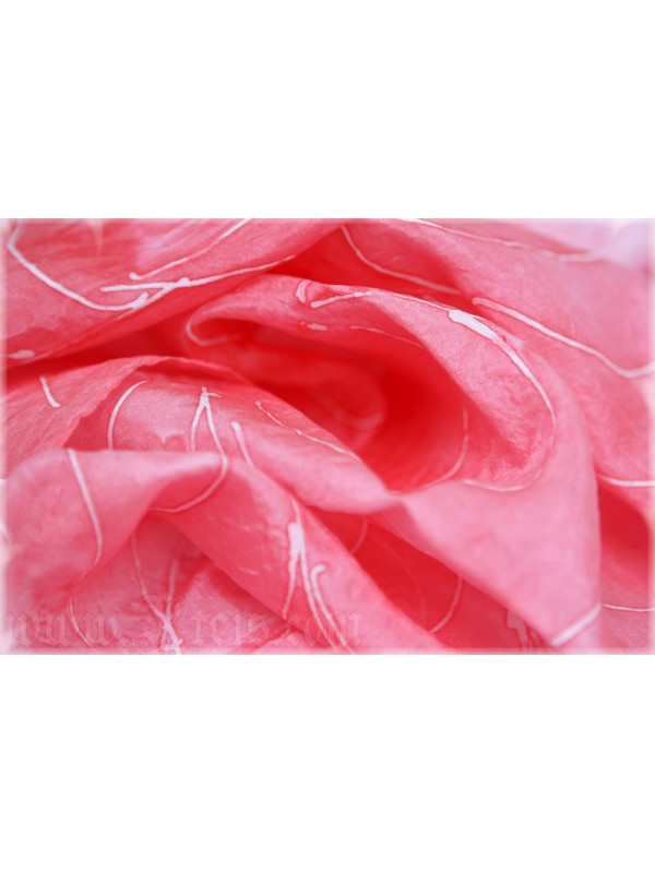Romantic Silk Scarf with Spider Web