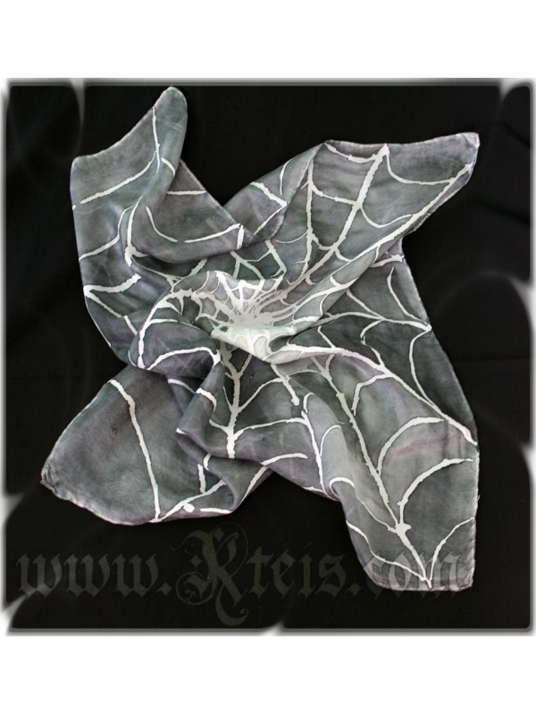 Spider Web Silk Scarf