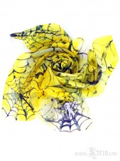 Narcissus Silk Scarf with Spider Web