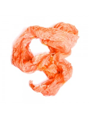 Pastel silk scarf shawl in orange