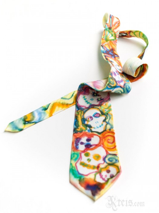 Colorful Skull Silk Tie