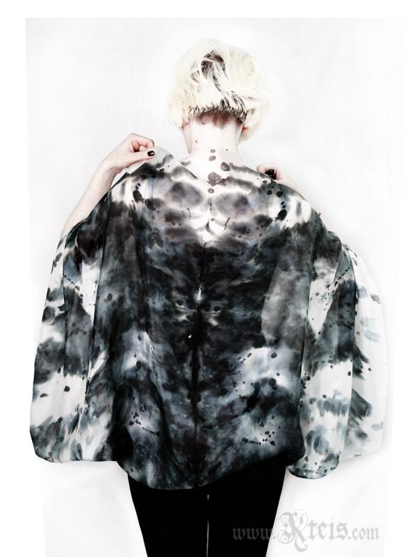 Rorschach Silk Shrug