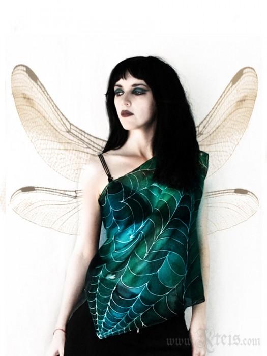 Fairy Green Silk Top