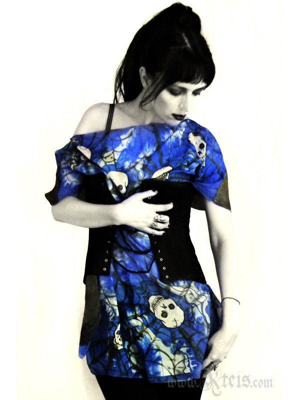 Skull Dress - Oversized Silk Tunic