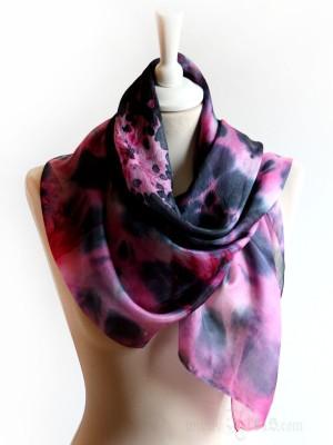 Pink Explosion Silk Scarf