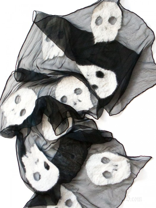 Gothic Skull Scarf