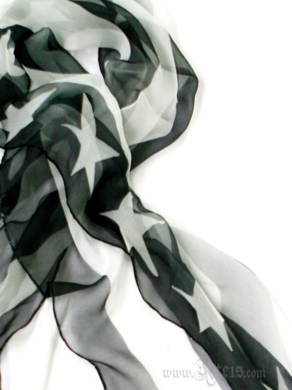 Black and White American Flag Scarf