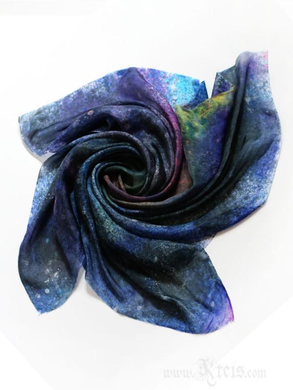 Galaxy Silk Scarf - Starry Night Silk Scarf