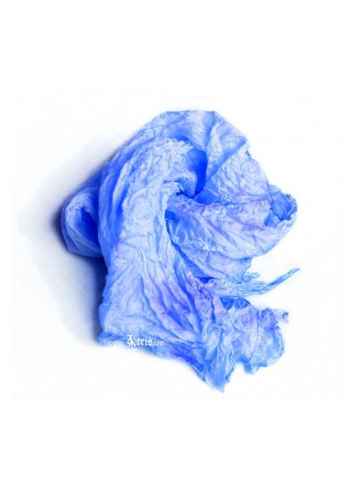 Light blue silk scarf shawl