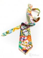 Colorful Skull Silk Tie