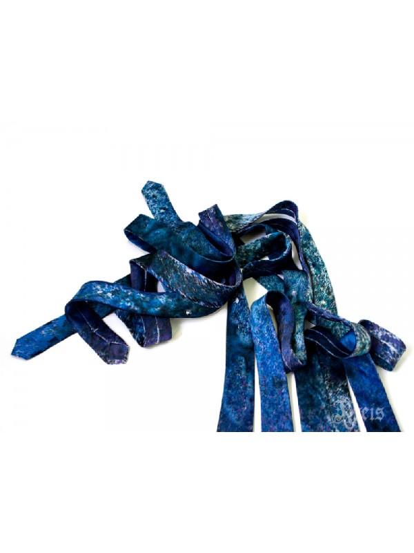 Skinny Galaxy Silk Tie - Nebula Necktie